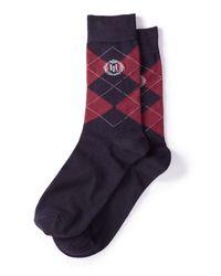 Henri Lloyd - Red Men's Tanfield Argyle Socks for Men - Lyst