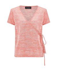 James Lakeland - Orange Wrap T-shirt - Lyst