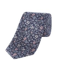 Howick | Blue Meadow Floral Jaquard Silk Tie for Men | Lyst