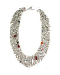 Iosselliani | Multicolor Anubian Jewels Fringe Necklace | Lyst