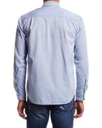 Hudson Jeans - Blue Weston Button Up Shirt for Men - Lyst