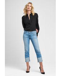 Hudson - Blue Tally Crop Skinny Jeans - Lyst