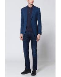 HUGO - Slim-fit Stonewashed Blue Jeans In Comfort-stretch Denim for Men - Lyst