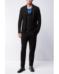 BOSS Orange - Black Slim-fit Waistcoat In Denim Jersey for Men - Lyst