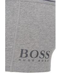 BOSS - Gray Stretch Cotton Trunks | Trunk 24 Logo for Men - Lyst