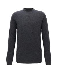 HUGO | Gray Seamless Sweater In A Wool Blend for Men | Lyst