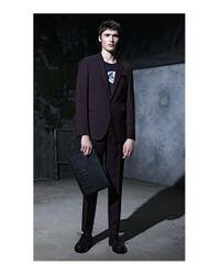 HUGO - Black Embellished Derby Shoes In Soft Leather for Men - Lyst
