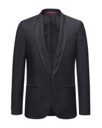 HUGO - Black Extra-slim-fit Jacket In A Wool Blend for Men - Lyst