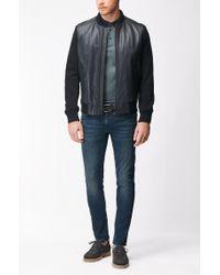 BOSS - Blue Super-stretch Denim Jeans In A Skinny Fit for Men - Lyst