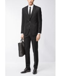 BOSS - Black Basketweave Virgin Wool Sport Coat, Regular Fit   Janson for Men - Lyst