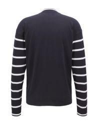 BOSS - Blue Jersey Cotton Sweater | Newquay for Men - Lyst