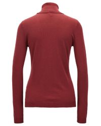 BOSS Orange   Red Slim-fit Sweater In A Cotton-silk Blend   Lyst