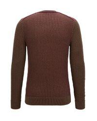 BOSS Orange | Crew-neck Sweater In Structured Cotton for Men | Lyst