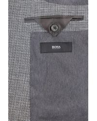 cde684927e BOSS Slim-fit Blazer With Foldable Pocket Square in Gray for Men - Lyst