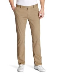 BOSS - Natural Slim Fit Casual Trousers 'rice-1-d Modern Essential' for Men - Lyst