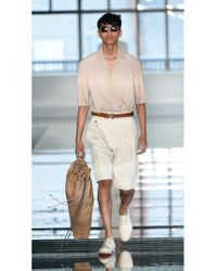 BOSS - Natural High Waisted Pleated Shorts   'anker' for Men - Lyst