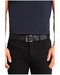 BOSS - Blue Cowhide Belt 'torialo' for Men - Lyst