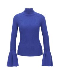 HUGO - Purple Virgin Wool Turtle-neck With Tulip Cuffs - Lyst