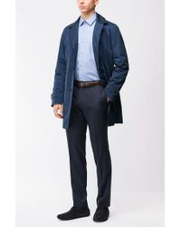 BOSS - Blue Suede Driving Loafer | Leather Driver for Men - Lyst