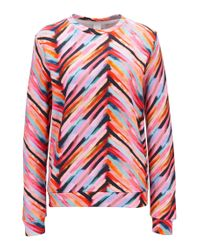 BOSS - Multicolor Multi-coloured Sweater In Terry Cotton Blend - Lyst