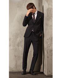 HUGO | Black Slip-on Oxford Shoes In Leather for Men | Lyst