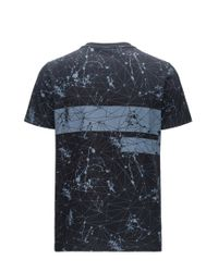 BOSS Green - Black Regular-fit Printed T-shirt In Single Jersey for Men - Lyst