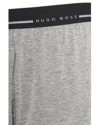 BOSS Gray Loungewear Shorts In Stretch Cotton for men