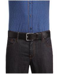 BOSS Orange | Black Leather Belt With Washed Effect for Men | Lyst