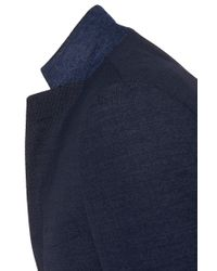 BOSS   Blue Extra-slim-fit Suit In Textured New Wool: 'reyno1/wave1' for Men   Lyst