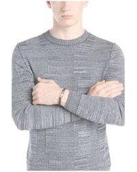 BOSS Orange - Metallic Leather Bracelet With Metal Fastening: 'milos' for Men - Lyst