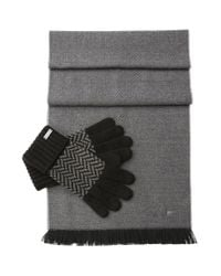BOSS Orange | Black Set Comprising A Scarf And Gloves In A Fabric Blend With Wool: 'n-set' for Men | Lyst