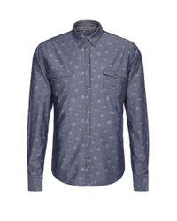 BOSS Orange | Blue Patterned Slim-fit Shirt In Cotton: 'edoslime' for Men | Lyst