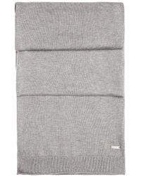 BOSS Orange | Gray Knit Scarf In Cotton: 'kapono' for Men | Lyst
