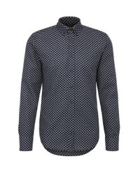 BOSS Orange | Blue Patterned Slim-fit Shirt In Cotton Jacquard: 'epreppy' for Men | Lyst