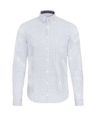BOSS Orange | White Extra-slim-fit Shirt In Patterned Stretch Cotton for Men | Lyst