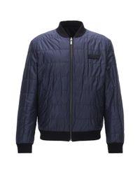 HUGO - Blue Slim-fit Reversible Bomber Jacket With Teflon Finish for Men - Lyst