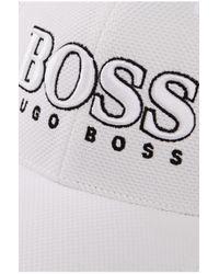 BOSS Green   White 'cap Us'   3-d Logo Performance Hat for Men   Lyst