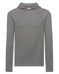 BOSS Orange | Black Reversible Hooded Sweatshirt: 'wysp 1' for Men | Lyst