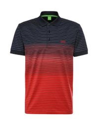 BOSS Green | Red 'paddy 3' | Modern Fit, Cotton Polo for Men | Lyst