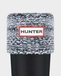HUNTER - Black Winter Mouliné Boot Socks - Lyst
