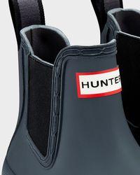 HUNTER - Gray Women's Original Pulltab Lightweight Chelsea Boots - Lyst