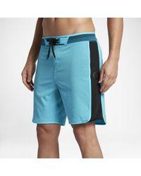 """Hurley Blue Phantom Hyperweave Motion Stripe 18"""" Board Shorts for men"""