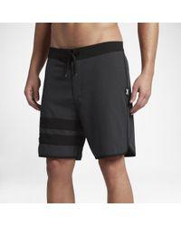 "Hurley Black Phantom Block Party Heather 2.0 18"" Board Shorts for men"