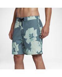 "Hurley - Blue Beachside Swarm 18"" Board Shorts for Men - Lyst"