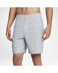 "Hurley Gray Alpha Trainer Laser 18.5"" Walkshorts for men"