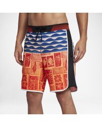 "Hurley Multicolor Phantom Hyperweave Motion Tahiti 18"" Board Shorts for men"