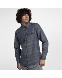 Hurley Blue Dri-fit Pismo Long Sleeve Shirt for men