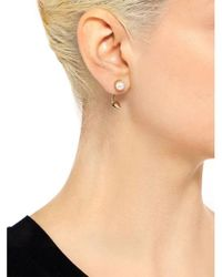 Joomi Lim - Metallic Love Thorn Pearl Floating Spike Stud Earrings - Lyst