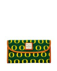 Dooney & Bourke - Multicolor Ncaa Oregon Continental Clutch - Lyst