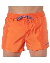 DIESEL - Orange Solid Swim Short for Men - Lyst